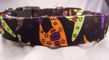 Colorful Witch's Wear Halloween Dog Collar