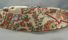 Beautiful Flower Paisley on Beige Dog Collar