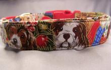 Christmas Puppies Dog Collar rescue me dog collar