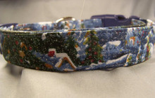 Winter Wonderland Dog Collar rescue me dog collar