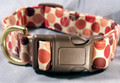 Bold Red Dots on Cream Dog Collar