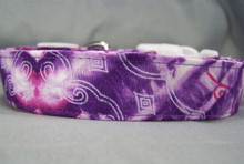 Purple Tie Dyed Dog Collar