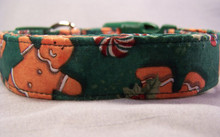 Gingerbread Cookies and Christmas Candy Dog Collar rescue me collar