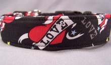 Tattoo Love on Black Dog Collar