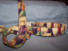 3 foot matching leash (shown here in our wine bottle pattern)