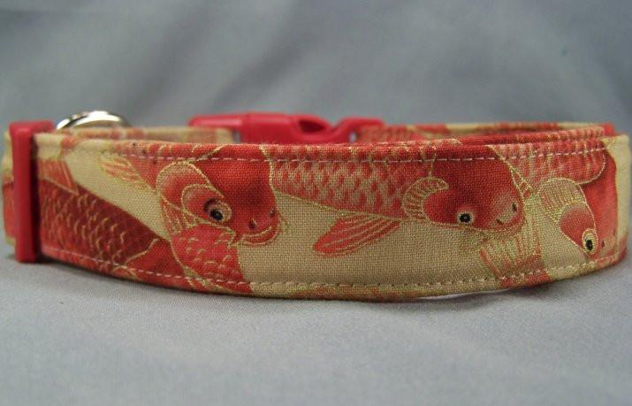 Cool fish koi dog collar for Fish dog collar