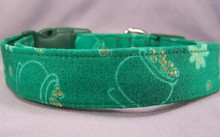 Pots of Gold and Shamrocks St. Patrick's Day Dog Collar
