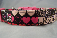 Goth Girl Skull Patch Dog Collar