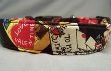 Vintage Valentines Dog Collar