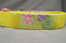 Easter Eggs on Yellow Dog Collar