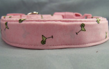 Preppy Martinis on Pink Dog Collar