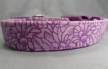 Lavender Flowers Purple Dog Collar