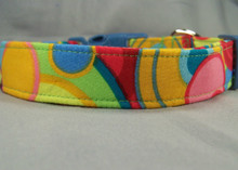 Psychedelic Colorful Circles Dog Collar