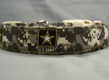 Digital Camo US Army Licensed Fabric Dog Collar