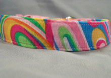 Groovy Waves Colorful Dog Collar