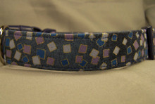 Confetti Dot Blue Dog Collar