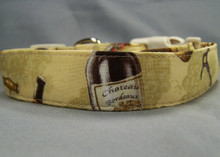 Tan Grapes and Wine Dog Collar