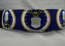 Licensed Fabric US  Air Force Dog Collar