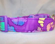 Batik Purple Halloween Dog Collar