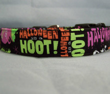 Colorful Words Halloween Dog Collar