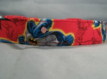 Licensed Fabric Red Batman Dog Collar