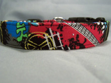 Black Rock and Roll Dog Collar