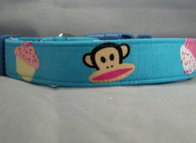 Blue Monkey Dog Collar