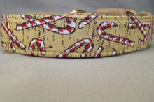 Country Candy Canes Christmas Dog Collar