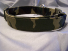 Classic Camouflage Dog Collar Rescue Me Dog collar