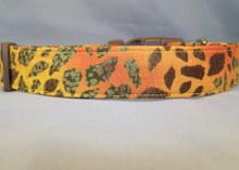 Yellow Animal Print  Dog Collar