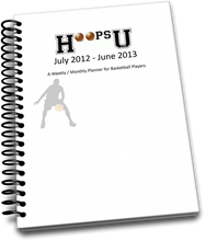 Weekly / Monthly School Year Planner for Basketball Players Cover