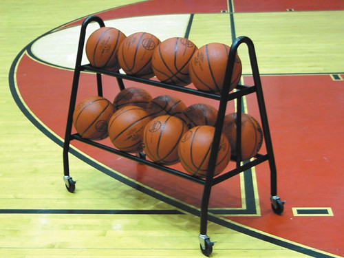 Double Tuff 12-Ball Cart Holds 12 basketballs