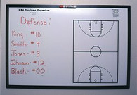 KBA Pre-Game Playmaker Marker Board