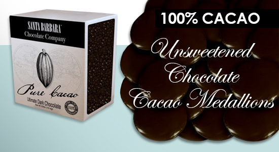 100% Cacao Mmedallions
