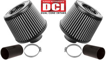 BMS N54 white filters dual cone intake DCI