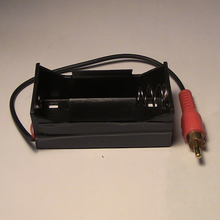 1.5VDC battery holder with RCA connector