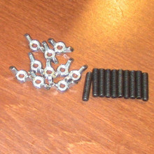 Post holder mounting hardware Pack of 10 studs and wing nuts