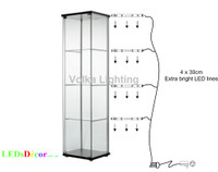 lighting for display cabinets. led lights for glass display cabinets lighting o