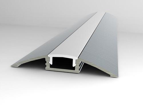 aluminium flat led profile volka lighting pty ltd. Black Bedroom Furniture Sets. Home Design Ideas