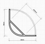 Aluminium Corner LED Maxi Profile