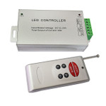 LED Controller 6 Key  RF Remote 3 Channel RGB Aluminum Casing