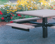 Square Public Place Picnic Table - Single Support