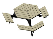Hexagonal Nicolet Picnic Table - Wheelchair Accessible