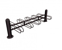 "98"" Stoneham Bike Rack 10 Places Double Sided"