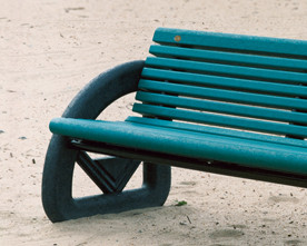 Cartier Bench with Backrest
