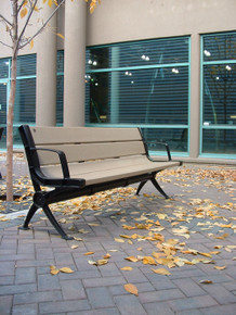 Cascades Bench with Backrest