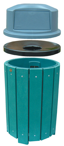 32 Gallon Park Trash Receptacle