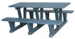 """Park Picnic Table """"3 Supports"""""""