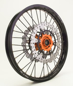 Black Rim Black Spoke Orange hub