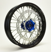 YAMAHA SUPERMOTO WHEEL SET BLACK/BLUE COMPLETE YZ450F/YZ250F 08-2016-Warp9